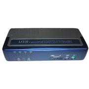 KVM-Switch 1:4,USB+PS/2,VGA, 4 KVM-cable