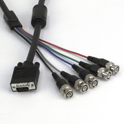 Monitor Cable RGB, DB15HD/m-5xBNC/m, 2m