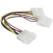 Y-stroomverb.kabel, 2x 13,3 cm,bus-st/st