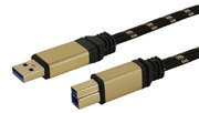 Premium USB 3.0 Cable A/M - B/M, 1.8m