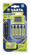 Varta Power LCD Charger w/ 4× AA 2400mAh