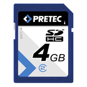 Pretec SDHC Card Class 2, 4 GB