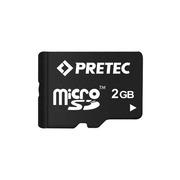 Pretec microSD-kaart, 2 GB +SD-adapter