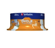 Verbatim DVD-R 4.7GB 16x Inkjet SP (25)