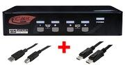 ARP KVM Switch 1:4 USB, DisplayPort
