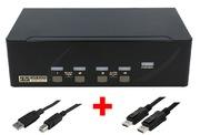 ARP KVM Switch 1:4 USB, Dual DisplayPort