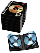 Hama Box for 6 DVDs, 5-pack