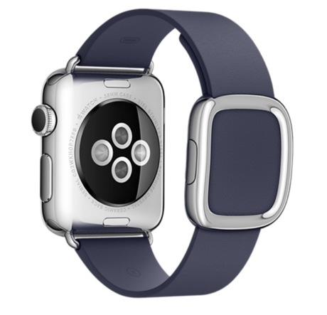 Apple Watch Leather Strap 38mm Dark Blue - Preview 1