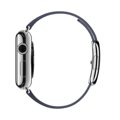 Apple Watch Leather Strap 38mm Dark Blue - Preview 3